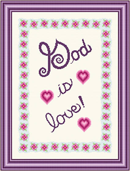 cross stitch pattern God Is Love