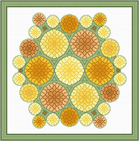 cross stitch pattern Bouquet of Mums