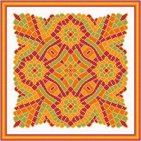 cross stitch pattern Exotic