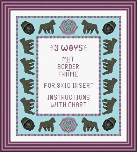 cross stitch pattern Gorilla Mat/Border/Frame for 8x10 insert