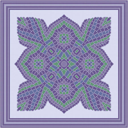 cross stitch pattern Purple Mountain Majesties