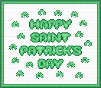 cross stitch pattern St. Patrick's Day