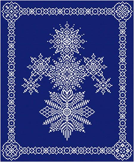 cross stitch pattern Snowflake Snowman