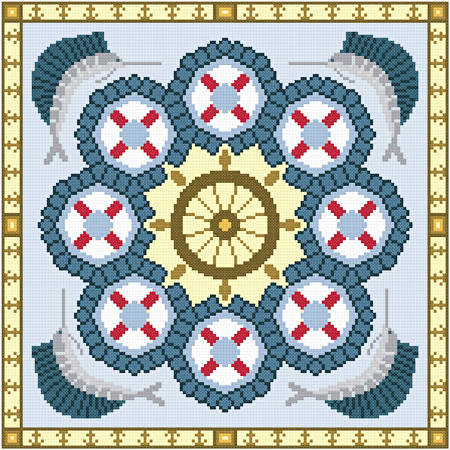 cross stitch pattern Smooth Sailing