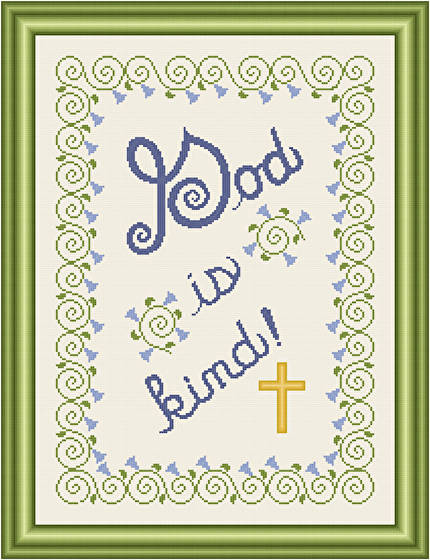cross stitch pattern God Is Kind