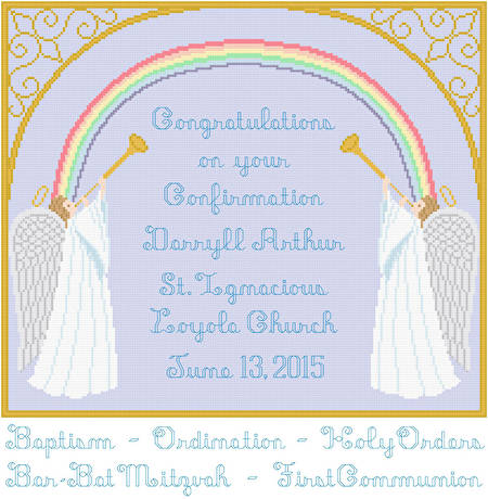 cross stitch pattern Angels Congratulations