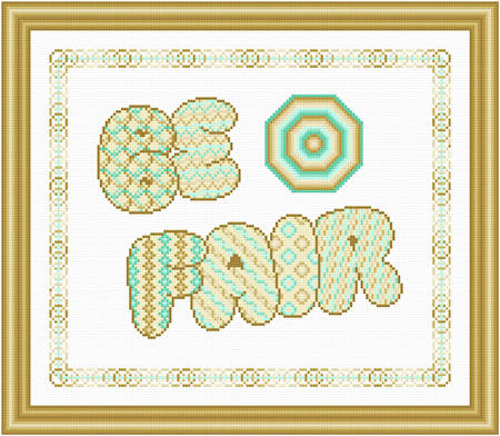 cross stitch pattern Be Fair