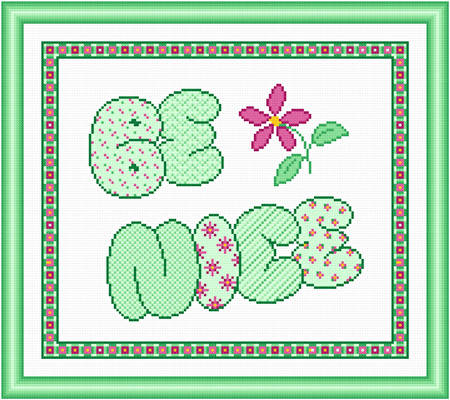 cross stitch pattern Be Nice