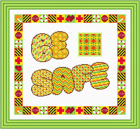 cross stitch pattern Be Safe