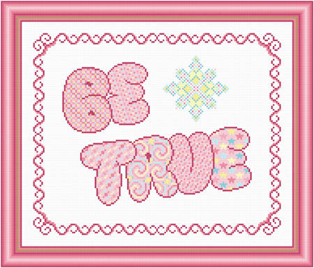 cross stitch pattern Be True