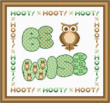 cross stitch pattern Be Wise - Pistachio