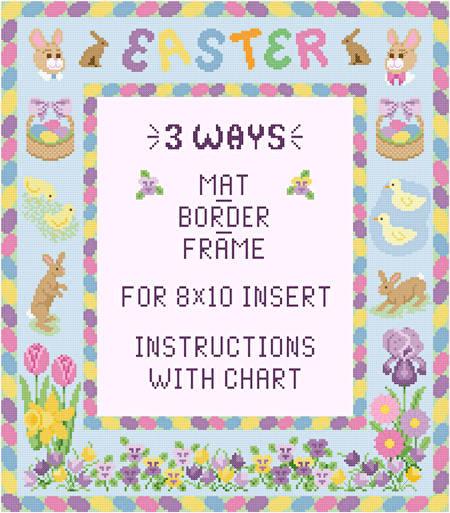 cross stitch pattern Easter Mat/Border/Frame for 8x10 insert