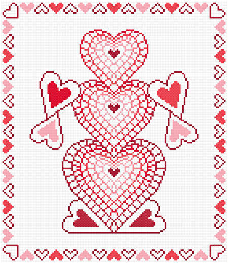 cross stitch pattern How You Make Me Feel (red)