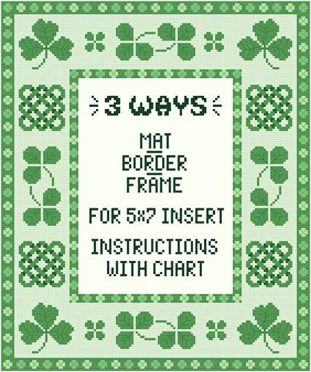 cross stitch pattern Irish Mat/Border/Frame for 5 x 7 insert