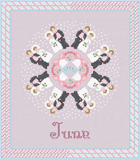 cross stitch pattern June - Wedding Time