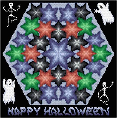 cross stitch pattern Kaleidoscope - Halloween