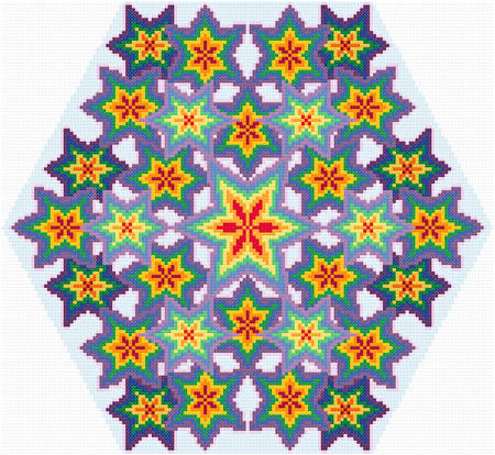 cross stitch pattern Kaleidoscope - Rainbow