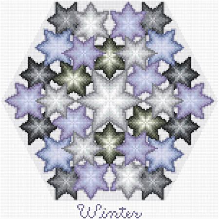 cross stitch pattern Kaleidoscope of Seasons - Winter