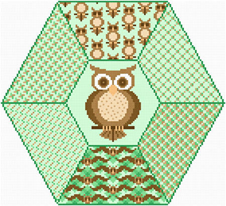 cross stitch pattern Wise Owl