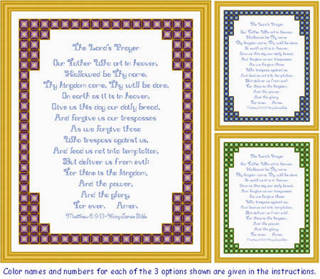 cross stitch pattern The Lord's Prayer