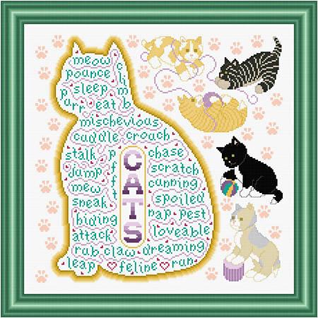 cross stitch pattern Cats