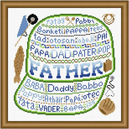 cross stitch pattern Father