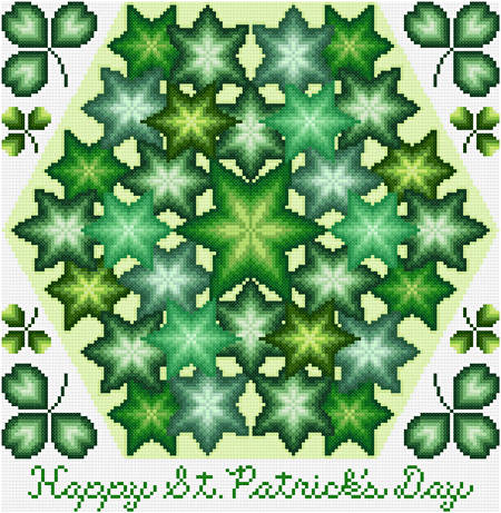 cross stitch pattern Kaleidoscope - Happy St. Patrick's Day