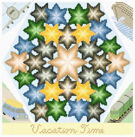 cross stitch pattern Kaleidoscope - Vacation Time