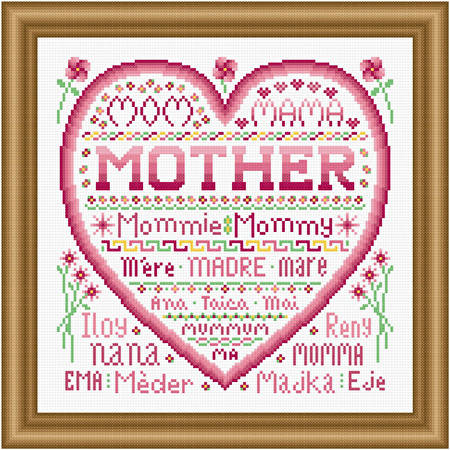 cross stitch pattern Mother
