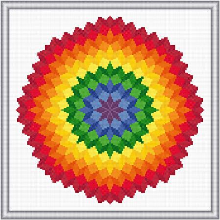 cross stitch pattern Ring of Blocks