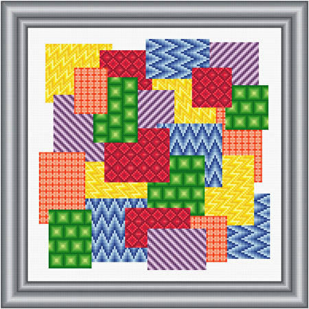 cross stitch pattern Swatches