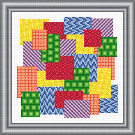 cross stitch pattern Swatches