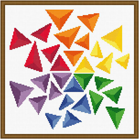 cross stitch pattern Triangles