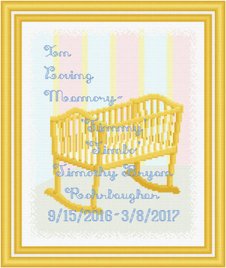 cross stitch pattern In Loving Memory - Bassinet