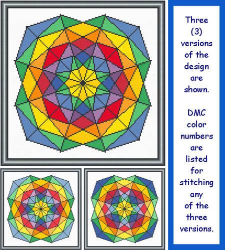cross stitch pattern Cool and Bright