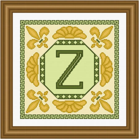 cross stitch pattern Classic Monogram - Z