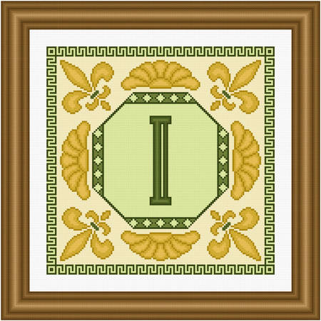 cross stitch pattern Classic Monogram - I