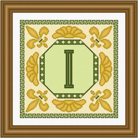 cross stitch pattern Classic Monogram - I