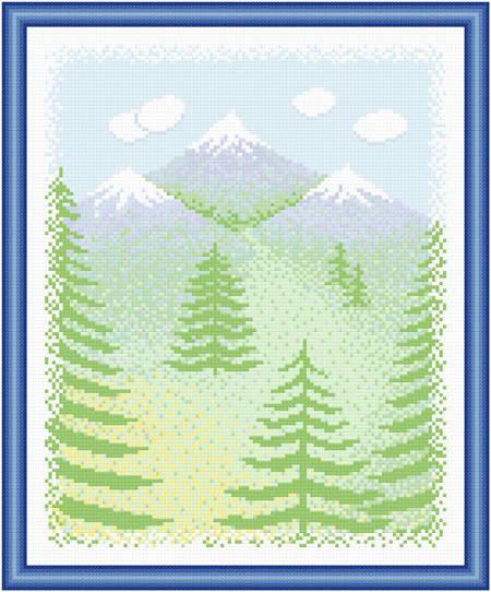 cross stitch pattern Scenery - Back Country