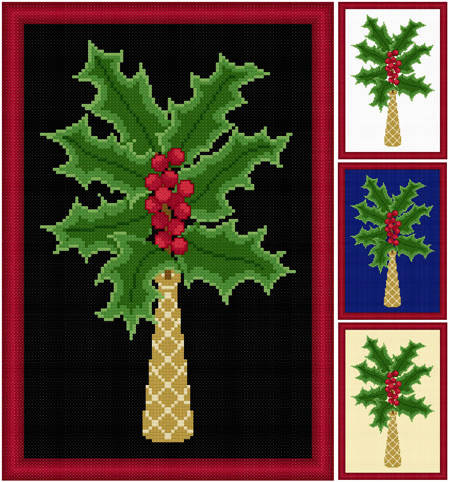 cross stitch pattern Holly
