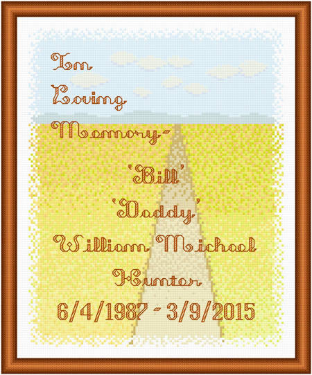 cross stitch pattern In Loving Memory - Plains / Prairie