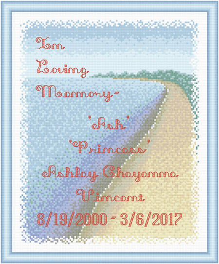 cross stitch pattern In Loving Memory - Water / Shore