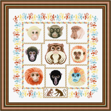 cross stitch pattern Monkey Shines