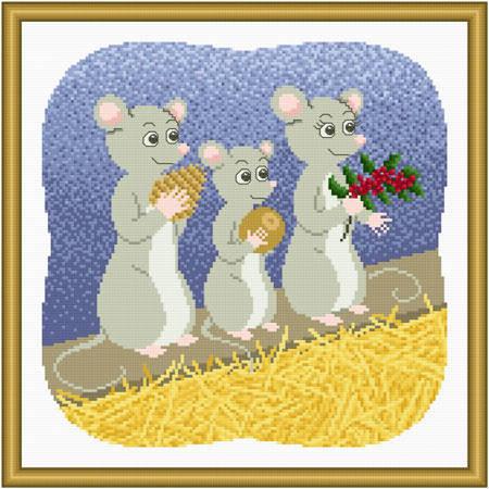 cross stitch pattern Chris-mouse Gifts