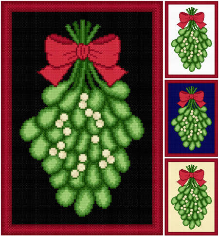 cross stitch pattern Mistletoe