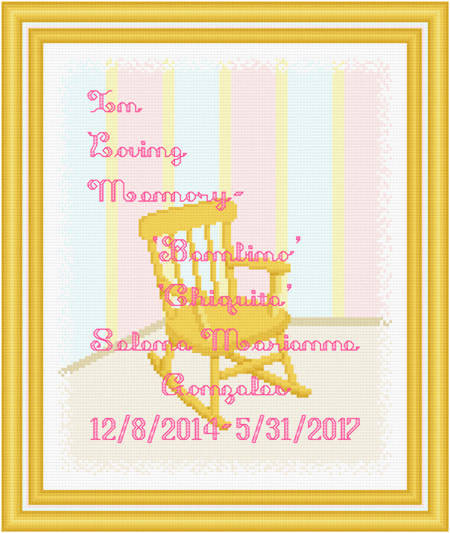 cross stitch pattern In Loving Memory - Small Rocking Chair