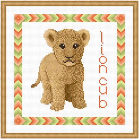 cross stitch pattern Baby Lion Cub
