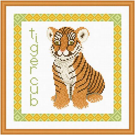 cross stitch pattern Baby Tiger Cub