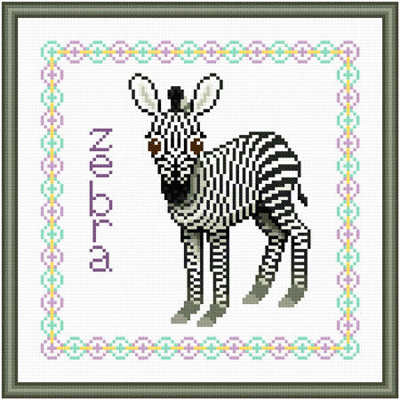 cross stitch pattern Baby Zebra