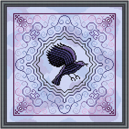 cross stitch pattern Caw-w Caw-w-w